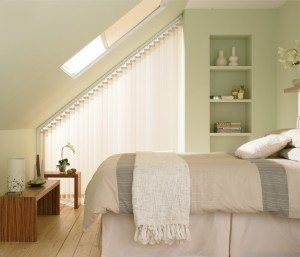 Loft blinds, awkward spaces, blinds, curtains